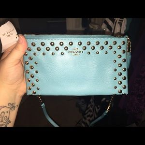 Coach real studded crossbody